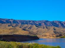 The Colorado River Flowing Through The Mojave Desert Near Needles, California