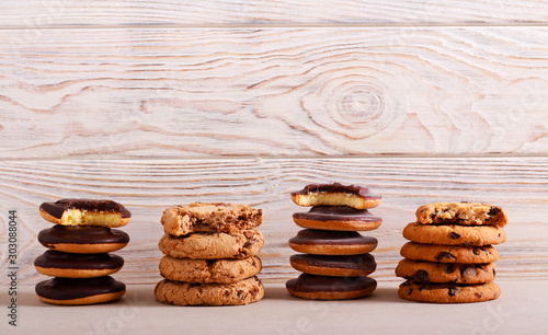 Fotografiet Selection of girl scout cookies