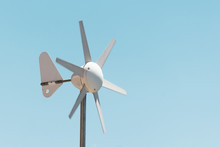 Wind Vane And Anemometer With Rotating Blades, Wind Power Generation.