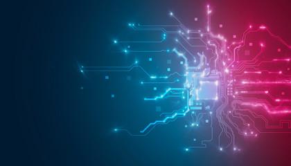 processore, memoria, digitale, cpu, tecnologia futuristica