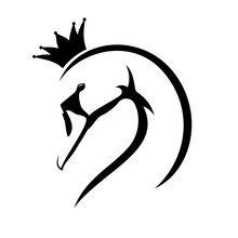 Elegant Princess Swan Bird Profile Head With Bent Neck And Royal Crown Black And White Vector Design