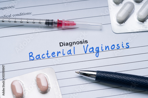 Bacterial Vaginosis Text Written On Form With Medicine And Pen Canvas Print