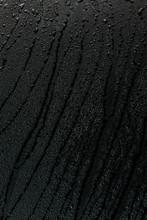 Water Drops On Flat Black Rubb...