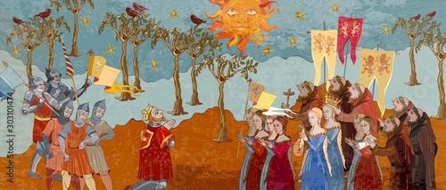 Foto Medieval scene