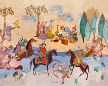Medieval Miniature. Mughal Art...