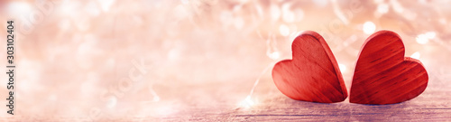 Photographie Valentine heart on pink background