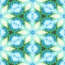 Beautiful Seamless Etheral Soft Turquoise Blue Pattern Wallpaper