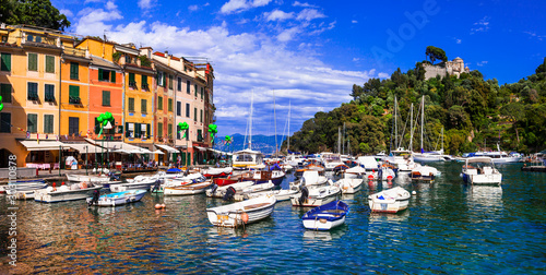 Italian holidays - beautiful colorful town Portofino in Liguria coast
