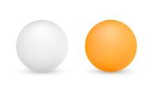 White And Orange Ping-pong Bal...