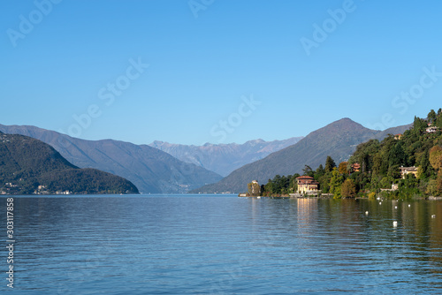 Valokuva Lake Maggiore seen about Luino, Province of Varese, Lombardy region, Northern It