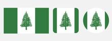 Norfolk Island Flag, Vector Illustration