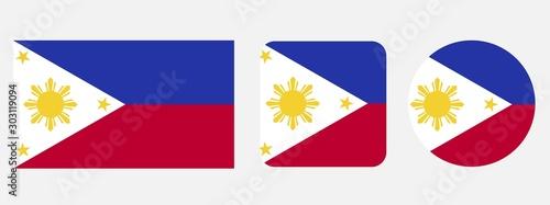 Obraz Philippines flag, vector illustration - fototapety do salonu