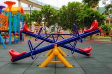 View Playground In Garden Park Colorful Playground For Children