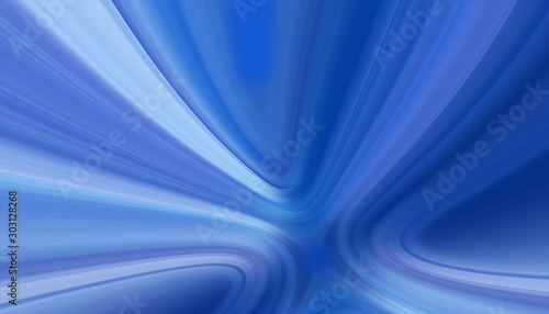 Fotografija  blue agate like style or brushed aluminium with striped swirling white lines, in