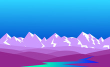 Snow-covered Lilac Mountains, ...