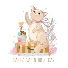 Valentine's Day Card. Romantic...