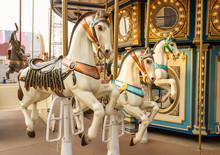 Carousel In A Cute Amusement P...