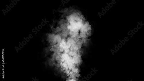 Explosion smoke on isolated black background Fototapet