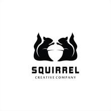 Squirrel Animal Logo Vector De...