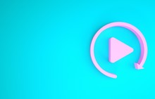Pink Video Play Button Like Si...