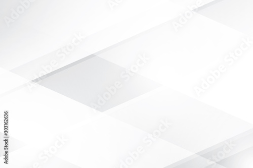 Obraz Abstract geometric white and gray color background. Vector, illustration. - fototapety do salonu