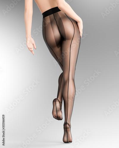Sexy nylon Nylons: Through