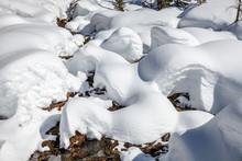 Schneespuren Und Schneemuster