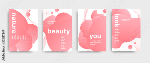 Set of colored brochure with big inscription Slika na platnu