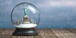 Statue of Liberty in the snow globe glass ball. Travel or trip to New York and USA in winter for celebrate Christmas.