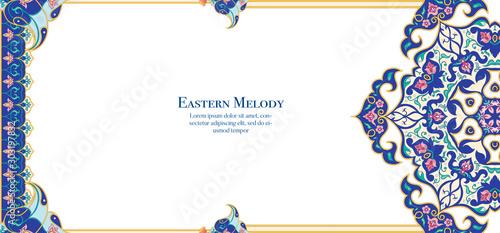 Stampa su Tela Eastern ethnic motif, traditional muslim ornament