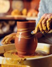 Pottery Workshop. A Senior Man...