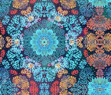 Coral Seamless Pattern, Blue K...
