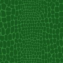 Vector Illustration Of Seamless Crocodile Skin Pattern. Animal Print