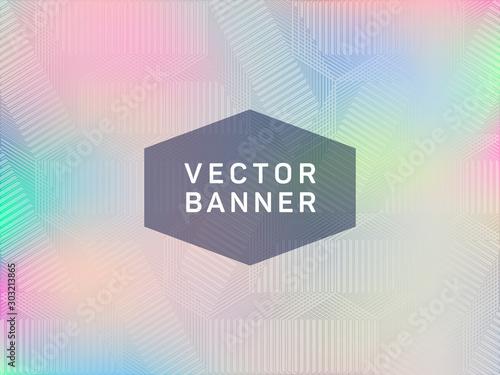 voucher geometric holographic vector background. Slika na platnu