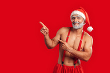 Adult Sexy Santa Claus Pointin...