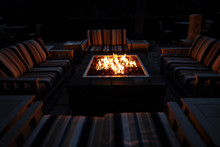 Tiltshift Image Of A Fire Pit ...