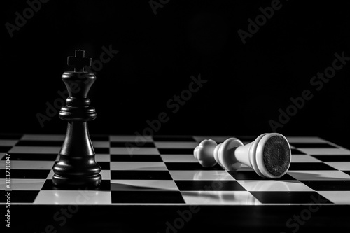 figuras de ajedrez sobre el tablero Canvas Print