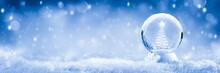 Snow Globe With Christmas Tree...
