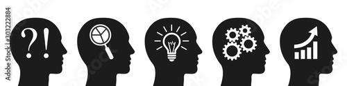 Human head problem analysis solution concept Canvas-taulu