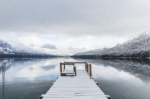 Fototapeta pomost   jezioro-gutierrez