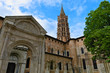 Basilica of Saint Sernin and its steeple in Toulouse, France