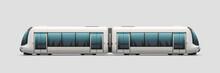 Realistic Modern Electric Train