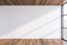 Empty White Room With Wooden F...