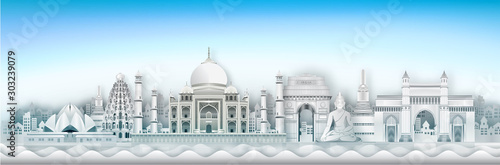 india building concept and architecture concept travel Canvas Print
