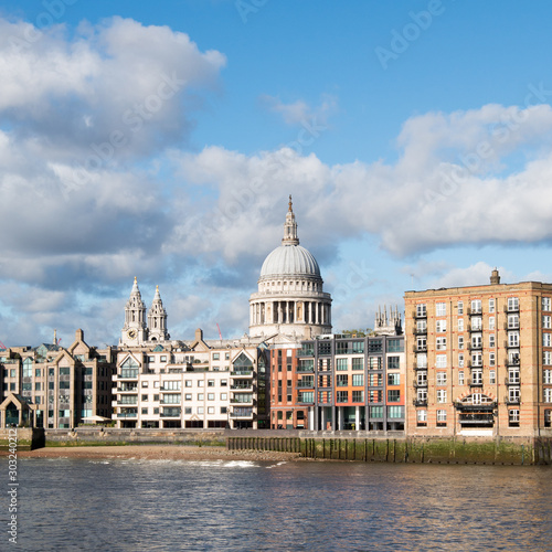 St Paul's Cathedral from Southbank Canvas Print
