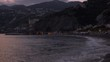 Suggestive beautiful view of Amalfi Coast at sunset. Campania, Italy