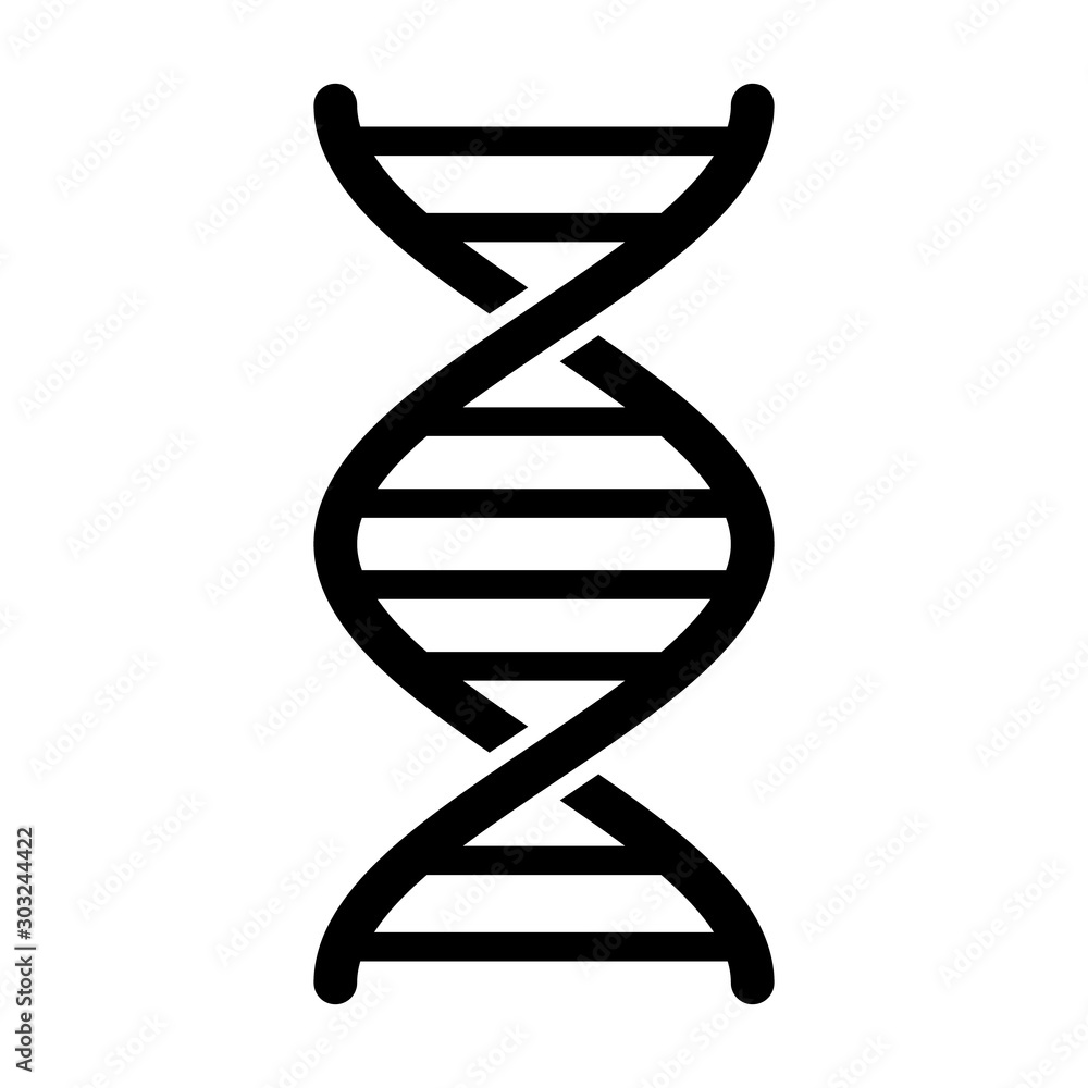 Fototapeta DNA / deoxyribonucleic acid double helix flat vector icon for science apps and websites