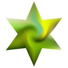 Colored Background In The Form Of Hexagram.