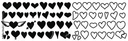 Heart .Heart vector set.Heart vector icon.Heart vector sign Fototapeta