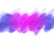 Blue and purple abstract watercolor background. Blue and purple watercolor scribble texture. It is a hand drawn.